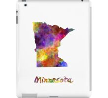 Minnesota US state in watercolor iPad Case/Skin