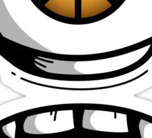 Orange Eyed Scared Monster Sticker