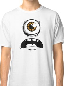 Orange Eyed Scared Monster Classic T-Shirt