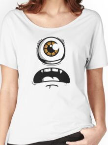 Orange Eyed Scared Monster Women's Relaxed Fit T-Shirt
