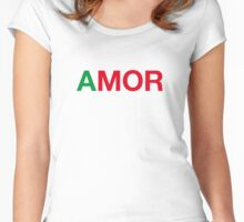 AMOR Women's Fitted Scoop T-Shirt