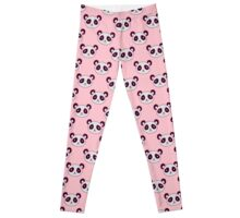 Panda Face Pattern Leggings