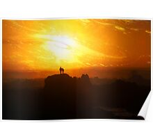 Coastal Sunset and Couple (124-09) Poster