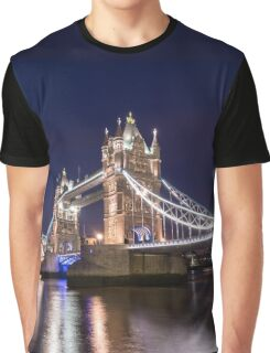 Tower Bridge Night Graphic T-Shirt