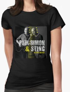 paul simon with sting Womens Fitted T-Shirt