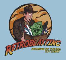 RetroBlasting Raiders of the 80s Toy Chest Baby Tee