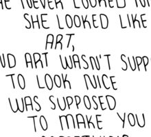 Eleanor and Park Art Quote Sticker
