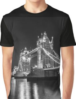 Tower Bridge Night Mono Graphic T-Shirt