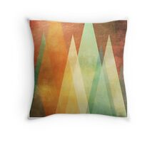 Triangle Action Throw Pillow