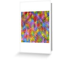 Retro Color Abstract II Greeting Card