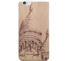 Sacré-Cœur Pen Sketch iPhone Case/Skin