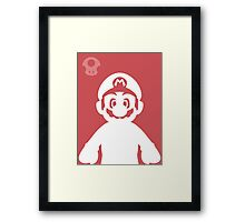 Retro Hero Series #1: Mario Framed Print