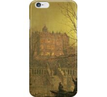 John Atkinson Grimshaw - Under The Moonbeams. Lake landscape: trees, river, land, forest, coast seaside, waves and beach, marine naval navy, lagoon reflection, sun and clouds, nautical panorama, lake iPhone Case/Skin