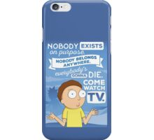 Rick and Morty Come Watch TV iPhone Case/Skin