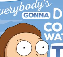 Rick and Morty Come Watch TV Sticker