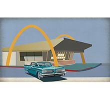 Mcdonalds and pontiac 1963 Photographic Print