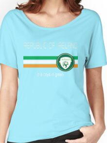 Euro 2016 Football - Republic of Ireland  Women's Relaxed Fit T-Shirt