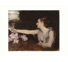 John Singer Sargent - Madame Gautreau Drinking A Toast. Woman portrait: sensual woman, girly art, female style, pretty women, femine, beautiful dress, cute, creativity, love, sexy lady Art Print