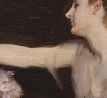 John Singer Sargent - Madame Gautreau Drinking A Toast. Woman portrait: sensual woman, girly art, female style, pretty women, femine, beautiful dress, cute, creativity, love, sexy lady Sticker