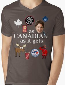 As Canadian as it Gets Canada Day Item Mens V-Neck T-Shirt
