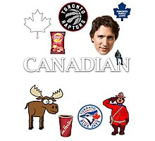 As Canadian as it Gets Canada Day Item Photographic Print