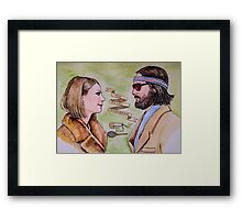 Margot and Richie Royal Tenenbaums Watercolor Framed Print