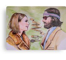 Margot and Richie Royal Tenenbaums Watercolor Metal Print