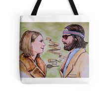 Margot and Richie Royal Tenenbaums Watercolor Tote Bag