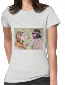 Margot and Richie Royal Tenenbaums Watercolor Womens Fitted T-Shirt