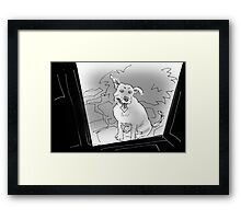 Can I come in now? Framed Print