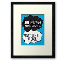 Fell In Love Cloud Design Framed Print
