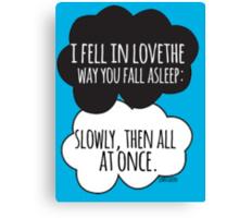 Fell In Love Cloud Design Canvas Print