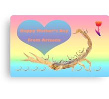 Happy Mother's Day from Arizona Canvas Print