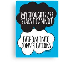 Thoughts Are Stars Cloud Design Canvas Print