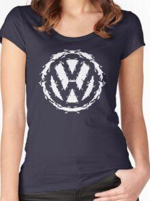 Volksbloten (white) Women's Fitted Scoop T-Shirt