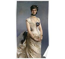 John Singer Sargent - Madame Paul Poirson. Woman portrait: sensual woman, girly art, female style, pretty women, femine, beautiful dress, cute, creativity, love, sexy lady, erotic pose Poster