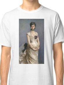 John Singer Sargent - Madame Paul Poirson. Woman portrait: sensual woman, girly art, female style, pretty women, femine, beautiful dress, cute, creativity, love, sexy lady, erotic pose Classic T-Shirt
