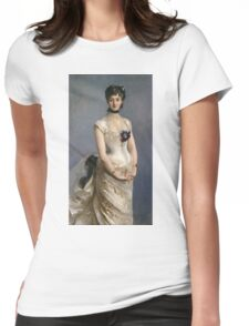 John Singer Sargent - Madame Paul Poirson. Woman portrait: sensual woman, girly art, female style, pretty women, femine, beautiful dress, cute, creativity, love, sexy lady, erotic pose Womens Fitted T-Shirt