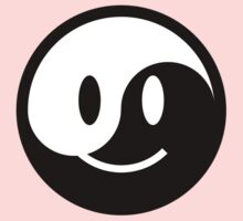 Yin Yang Smiley One Piece - Long Sleeve