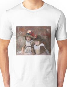 John Singer Sargent - Village Children. Child portrait: cute baby, kid, children, pretty angel, child, kids, lovely family, boys and girls, boy and girl, mom mum mammy mam, childhood Unisex T-Shirt