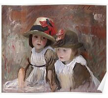 John Singer Sargent - Village Children. Child portrait: cute baby, kid, children, pretty angel, child, kids, lovely family, boys and girls, boy and girl, mom mum mammy mam, childhood Poster