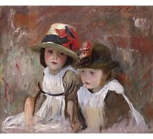 John Singer Sargent - Village Children. Child portrait: cute baby, kid, children, pretty angel, child, kids, lovely family, boys and girls, boy and girl, mom mum mammy mam, childhood Photographic Print