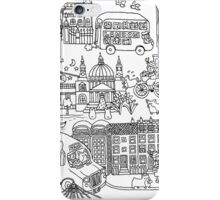 Queen's London Day Out - black & white iPhone Case/Skin