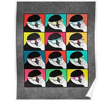 Chinstrap Penguins Pop Art Poster