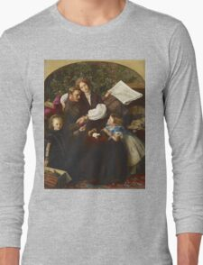 John Everett Millais - Peace Concluded. Family portrait: father and son, mother and daughter, female and male, dad daddy, child baby, beautiful dress, lovely family, mothers day, memory, mom, friends Long Sleeve T-Shirt