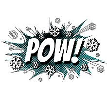 POW! Snow, the deeper, the better. Photographic Print