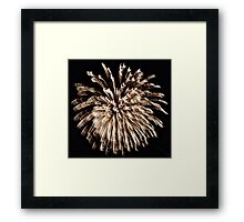Twirlie Lights Framed Print