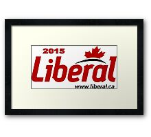Liberal Party of Canada 2015 Logo Framed Print