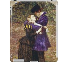 John Everett Millais - The Huguenot. Lovers portrait: sensual woman, woman and man, kiss, kissing lovers, love relations, lovely couple, family, valentine's day, sexy, romance, female and male iPad Case/Skin