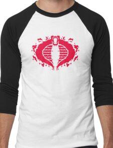 Cobrorschach  (red) Men's Baseball ¾ T-Shirt